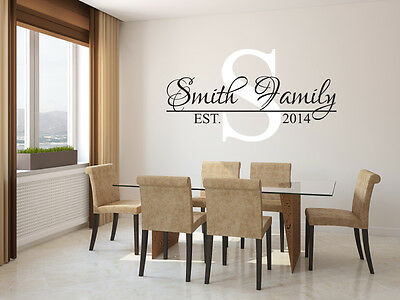 £36.34 • Buy Personalized Family Name Wall Decal Est. Year Living Room Wall Vinyl Sticker