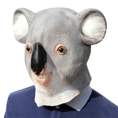 Latex Full Head  KOALA Animal Cosplay Masquerade Fancy Dress Carnival Mask • 8.99£