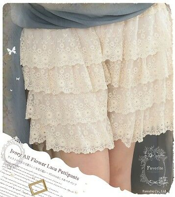$ CDN25.38 • Buy Kawaii Japanese Lace Layered Princess Shorts Mori Girl Sweet Render Pants Lolita