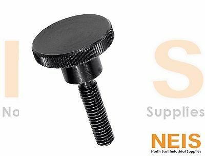 AU14.99 • Buy Kipp Thumb Screw, Knurled Fixing, M4 M5 M6 M8 M10 Black Oxidised Steel K0140
