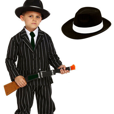Childrens Kids Boys 1920s 20s Gangster Fancy Dress Costume Stage Theatre Show • 12.99£