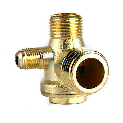 AU9.93 • Buy Air Compressor 3 Way Unidirectional Check Valve Connect Pipe Fittings 1/2  3/8