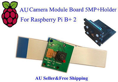 AU12.99 • Buy AU Camera Module Board 5MP Webcam Video 720p 1080p+Holder For Raspberry Pi 3B/2B