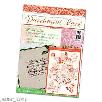 Tattered Lace Parchment Magazine - Christmas 2016 & FREE Florentine Bells Grid • 9.99£