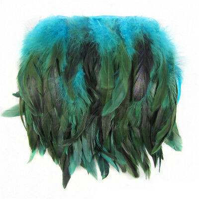 £2.99 • Buy Rooster Hackle Coque Feather Fringe Craft Trim Sewing Millinery 0.3/1/5M