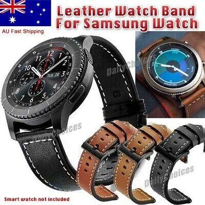 AU16.95 • Buy Luxury Leather Replacement Strap Band For Samsung Gear S3 Frontier/ Classic 22mm