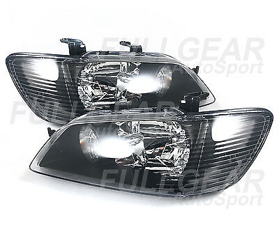 $129.99 • Buy BLACK W/ CLEAR HEADLIGHT PAIR SET FOR MITSUBISHI LANCER 2002-2003