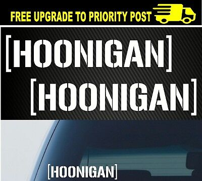 AU6.90 • Buy 2x Hoonigan Car Sticker Decal Vinyl For JDM Illest Drift Hoon Stance Lowered