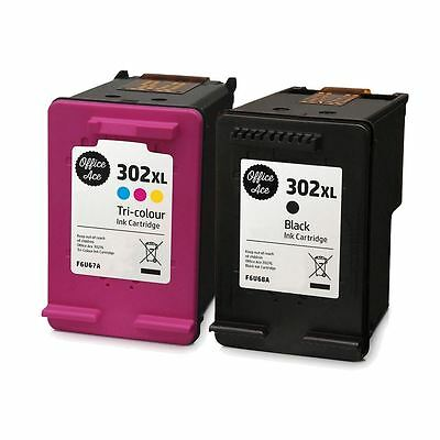 Black & Colour 302 XL Ink Cartridges - For HP Envy 4520 • 34.95£