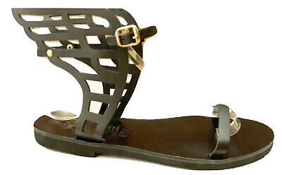 £50.64 • Buy Ancient Greek Womens WINGED Roman Leather Handmade Sandals Shoes Gladiator Slide