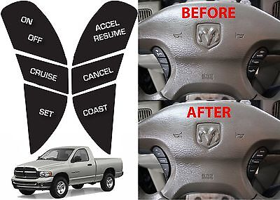 $14.99 • Buy Replacement Steering Wheel Button Stickers For 2002-2005 Dodge Ram New Free Ship