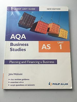 AQA AS Business Studies Student Unit Guide: Unit 1 New Edition Planning And... • 4£