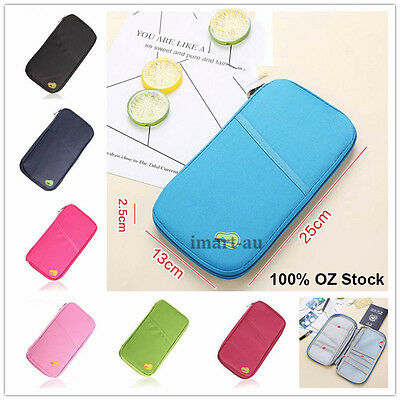 AU5.20 • Buy New Travel Wallet Passport Holder Document Organiser Bag Ticket Credit Card Case