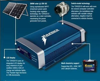 AU299 • Buy Thunder 20a Amp Dual Battery Isolator System Kit Dc To Dc Charger Mppt Solar Agm