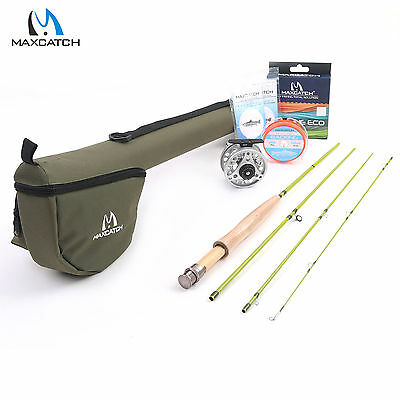 $ CDN105.84 • Buy Maxcatch Fly Fishing Rod & Reel Combo 3WT 7'6'' 4Sec 3/4WT Fly Line Backing Kit