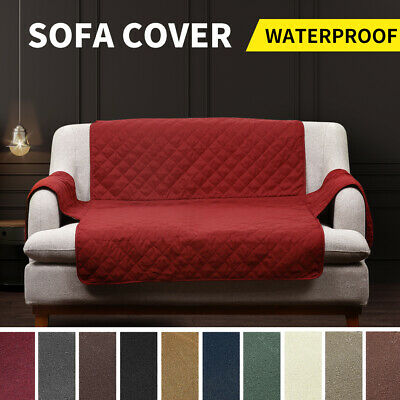 AU19.99 • Buy Sofa Cover Quilted Couch Covers Lounge Protector Waterproof Slipcovers AU
