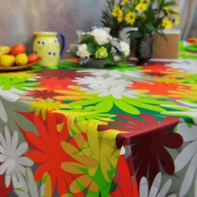 Wipe Clean Tablecloth French Quality Acrylic Coated Cotton  Fiesta 155cm Wide  • 26.18£