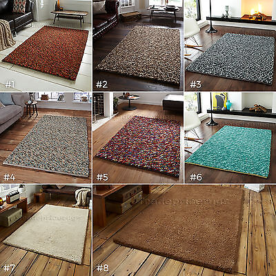 Large Thick Heavy Weight 100% Felted Wool Pile Chunky High Quality Pebbles Rugs • 179£