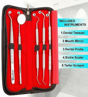 Dental Teeth Whitening Cleaning Kit Plaque Calculus Tartar Remover Tools Kit • 6.79£