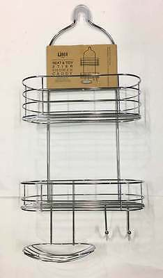 AU25.95 • Buy New 2Tier Shower Caddy Rack Chrome Organiser Bath  Hang Storage Shelves Bathroom