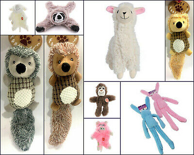 AU12.95 • Buy Pet Toy Dog Animal Chew Squeaky Plush Toys Hedgehog Pig Sheep Mokey Llama Rabbit