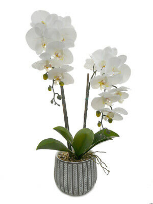 AU39.95 • Buy New 70cm Orchid Potted Phalaenopsis Orchid Artificial Flowers Garden Home Decor