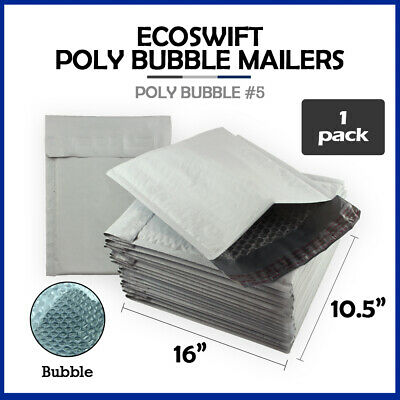 $ CDN1.26 • Buy 1 #5 10.5x16  EcoSwift  Brand Poly Bubble Mailers Padded Envelope 10.5  X 16