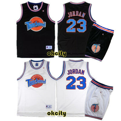 AU34.99 • Buy Michael Jordan 23 Space Jam Tune Squad Movie Jersey Stitched Adult Kid Youth Top