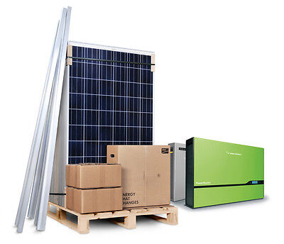 PLUG IN Solar 0.25kW 250W PV Panel Kit System For House Self Sufficient DIY • 495£