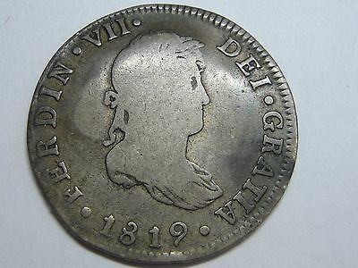 $ CDN65.91 • Buy 1819 Mexico 2 Real Ferdinand Vii Spanish Colonial Spain Silver Coin