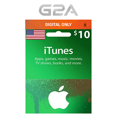 AU16.98 • Buy ITunes Gift Card $10 USD Key - 10 Dollar US Apple Store Code Digital Download