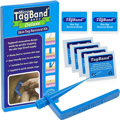 AU35.24 • Buy Deluxe Micro TagBand Skin Tag Remover Kit With Extra Bands And Free Retainer Box