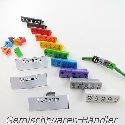Kabelmarker Cable Markers Managment Numbers Label Writing Incl. Code • 3.82£