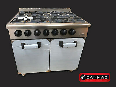 NEW OZTI Commercial Nat Gas Cooker Oven 6 Burner - RANGE WITH OVEN  • 1,800£