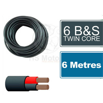 AU64 • Buy 6 B&S Twin Core Cable 6 Metre Length
