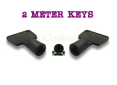 2 Service Utility Meter Keys Gas Electric Box Cupboard Cabinet Triangle Reading • 2.99£