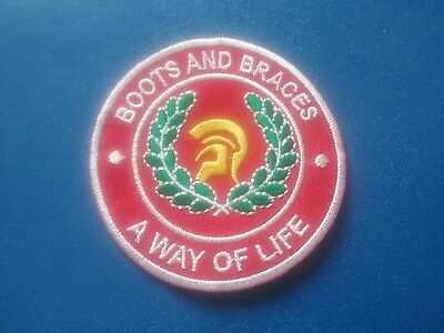 Rude Boy Skinhead Mod Ska Sew / Iron On Patch:- Boots And Braces A Way Of Life • 3.49£