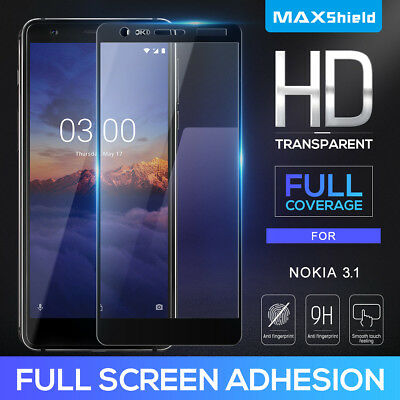AU11.39 • Buy Full Cover Tempered Glass Screen Protector F Nokia 6.2 7.2 7.1 5.1 3.1 6 6.1 7 8