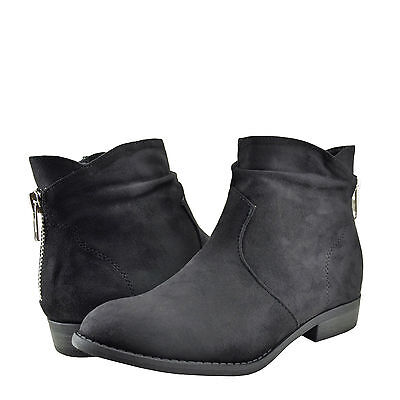 £22.68 • Buy Women's Shoes City Classified Sander Faux Suede Fall Ankle Booties Black
