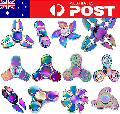 AU12.95 • Buy 3D Fidget Hand Spinner Finger Toys EDC Focus Stress Reliever For Kids Adults AU