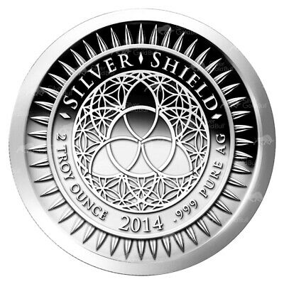 $ CDN141.22 • Buy 2 Oz 2014 New Year's Silver Proof-like Round