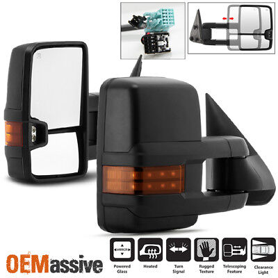 $124.96 • Buy Fit 03-06 Silverado Suburban Sierra Power Heated Side Towing Mirrors +LED Signal