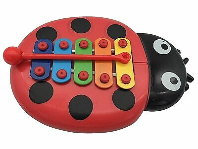 £2.99 • Buy BEETLE XYLOPHONE 5-Note Red Musical Toy Baby Kids Child Development Wisdom UK