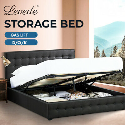 AU299.99 • Buy Levede Bed Frame Gas Lift King Queen Double Size Mattress Base Storage