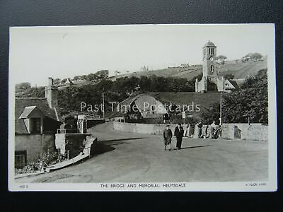 HELMSDALE Bridge & Memorial Shows WORKMAN ON DRY STONE WALL C1936 RP PC By Tuck • 24£