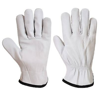 Portwest A260 Mens Driver Gloves Sheep Skin Leather Comfortable Hand Protection • 18.34£