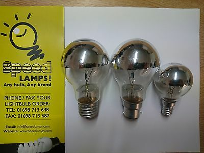 Crown Silver Top Dimmable Bayonet & Screw Fitting Light Bulbs • 3.20£