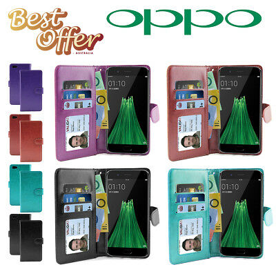 AU8.96 • Buy Slim Wallet Flip Leather Aussie Cover, Oppo R11  R9s  Plus  F1s Case