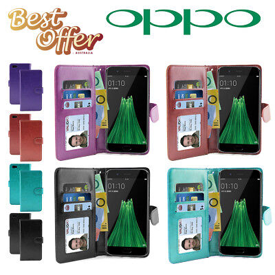 AU5.96 • Buy Slim Wallet Flip Leather Aussie Cover, Oppo R11  R9s  Plus  F1s Case