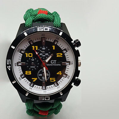 Paracord Watch With The Ulster Defence Regiment (UDR) Colours A Great Gift • 21.99£